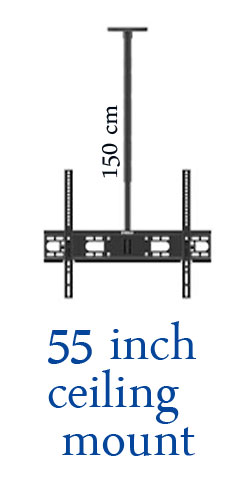 tv ceiling mount racks up 150 cm